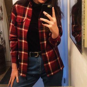 Red Plaid Ralph Lauren Wool Jacket